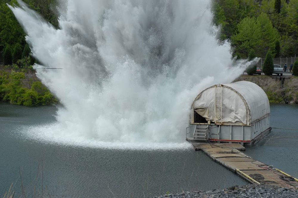 explosion in the water