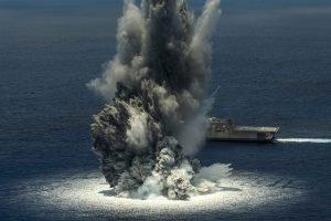 explosion at sea